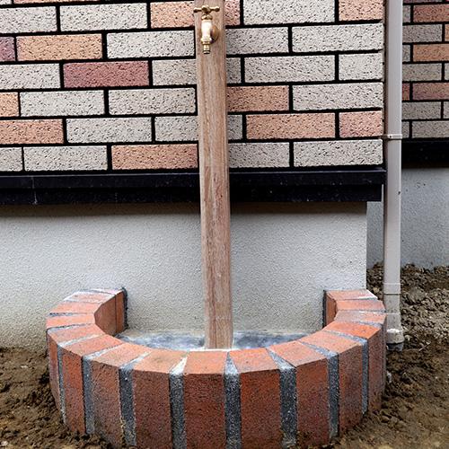 オンリーワン アルミ立水栓 Lite オークブロック SBIC ロイヤルパイン パインオレンジ